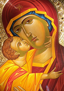 Icon in Gelati Monastery, Georgia